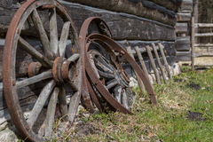 Ancient Wooden Wheels Royalty Free Stock Photos