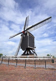 Ancient wooden windmill in famous town of Heusden, Netherlands Stock Photography