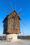 Ancient Wooden Windmill On The Sea Coast, Nessebar Royalty Free Stock Photo