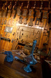 Ancient workshop of a luthier Royalty Free Stock Photography