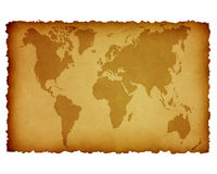 Ancient world map Royalty Free Stock Images