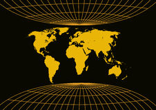 Ancient world map. In black background Royalty Free Stock Photography