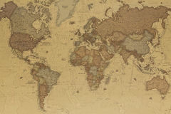 Ancient world map Stock Image