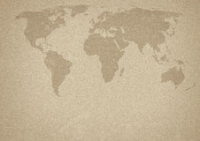 Ancient world map Royalty Free Stock Photography