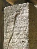 Ancient writing. Its photo of Ancient writing. Place - Kanheri caves, Mumbai, India royalty free stock images