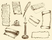 Ancient writings Royalty Free Stock Photography