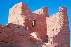 Ancient Wupatki Adobe Remains Royalty Free Stock Photography