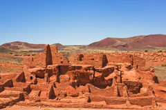 Ancient Wupatki pueblo Royalty Free Stock Photo