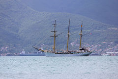 Ancient yacht in the Adriatic sea Royalty Free Stock Photography
