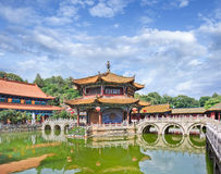 Ancient Yuantong Buddhist temple, Kunming, China stock photo