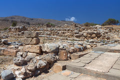 Ancient Zakros at Crete island, Greece Stock Images
