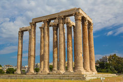 Ancient Zeus Olympian temple, Athens, Europe. Ancient Zeus Olympian temple, Athens, Greece, Europe Stock Photos