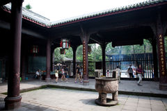 Ancient Zhuge Liang Memorial Temple Sichuan China. Zhuge Liang, Ancient, Wuhou Memorial, Three Kingdoms Temple, Chengdu, Sichuan, China. This temple was built in Stock Photography