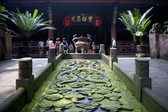 Ancient Zhuge Liang Memorial Temple Sichuan China royalty free stock photos