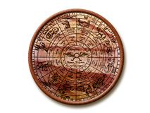 Ancient zodiac. Wheel over white background Stock Photography