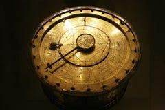 Ancient zodiac. Ancient golden and circular zodiac royalty free stock photos