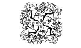 Ancient zodiac ornament of Sagittarius stock illustration