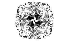 Ancient zodiac ornament of virgo royalty free illustration