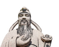 AncientChinese man statue Stock Images