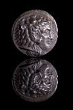 AncientCoinReflection-Alexander Royalty Free Stock Images