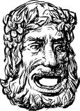 Ancientl drama mask Royalty Free Stock Photography