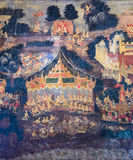 Ancientl Thai mural art Stock Photo