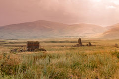 Ancients of Ani. Landscape view from ruins of ani, Kars Turkey Royalty Free Stock Photography