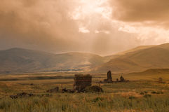 Ancients of Ani. Landscape view from ruins of ani, Kars Turkey Stock Image