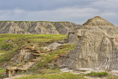 Ancients badlands in Dinosaur Provinical Park Stock Photography