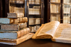 Ancients Books Of The 14th Century Royalty Free Stock Photos
