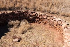 Ancients Kiva Near Pueblo, New Mexico. The locals are descendents of the ancient indians sometimes called Anasazi stock image