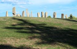 Anciernt monument resembling Stonehenge. Anciernt stone monument resembling Stonehenge stock images