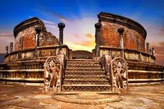 Anciet świątynie Polonnaruwa Sri Lanka obrazy stock