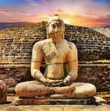 Anciet świątynie Polonnaruwa Sri Lanka obrazy royalty free