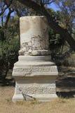 Ancietn collumn på den forntida staden av bibliska Ashkelon i Israel royaltyfri foto