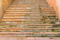 Ancietn grunge staircase steps, detail view stock image