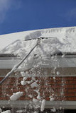 Ancinho do telhado da neve Foto de Stock