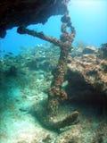 Ancla de la ruina de la nave Fotografía de archivo libre de regalías