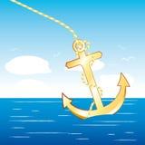 Ancla del barco Imágenes de archivo libres de regalías