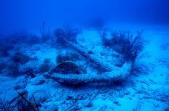 Ancla del naufragio Fotos de archivo libres de regalías