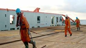 Ancla-direcci?n del equipo del buque de la fuente AHTS del tir?n que prepara el buque almacen de video