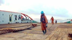 Ancla-direcci?n del equipo del buque de la fuente AHTS del tir?n que prepara el buque almacen de metraje de vídeo