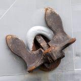 Ancla oxidada vieja Fotos de archivo libres de regalías
