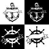 Ancle el vector del icono, tatuaje, logotipo, grunge, diseño, floral, mano, Foto de archivo