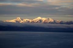 Ancohuma, berg in Bolivië Stock Fotografie