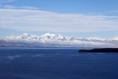 Ancohuma, montaña de los Andes en Bolivia Foto de archivo libre de regalías