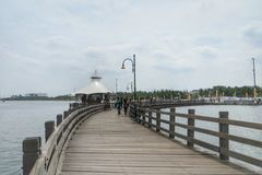 Ancol Pier Jakarta. Water sports and recreation centre in Jakarta, Indonesia Royalty Free Stock Photos
