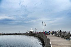 Ancol Pier Jakarta. Water sports and recreation centre in Jakarta, Indonesia Stock Photos