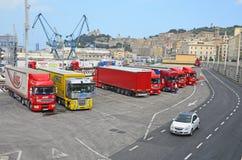 Ancona beherbirgt schwere Ladung stockfotografie