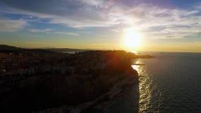 Ancona del mar en la puesta del sol fotografía de archivo